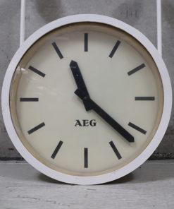 AEG dobbelt ur til loft montage, perron ur, industri ur