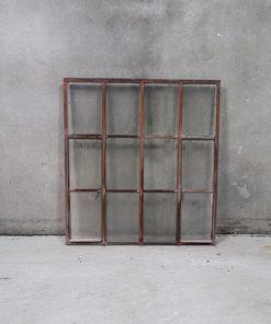 4 stk.gamle jernvinduer 114x124cm