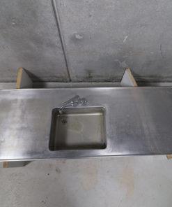 Bordplade, udekøkken, rustfri bordplade. Genbrug, storkøkken