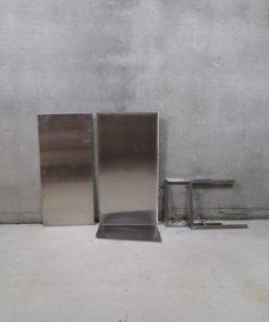 Rustfri, stål, bordplade, køkkenbord
