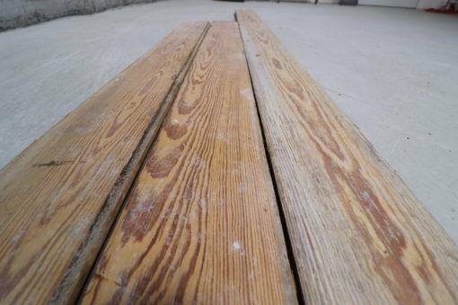 Brugte Pitch Pine gulve 140mm brede.